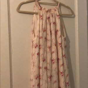 LOFT pleated floral dress